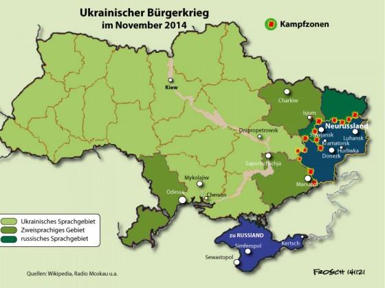 Ukrainischer Bürgerkrieg im November 2014