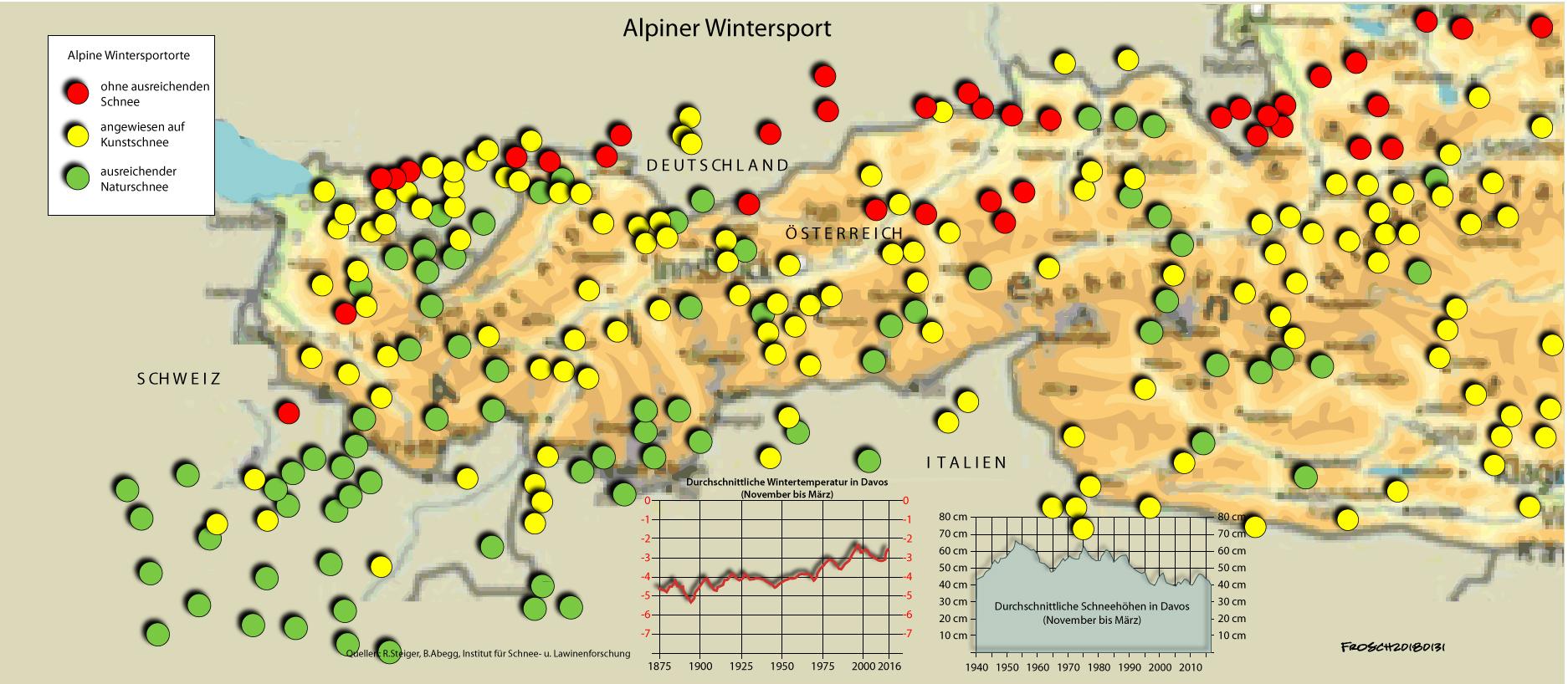 Alpiner Wintersport