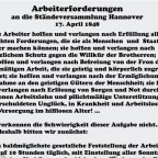 Arbeiterforderungen in der Revolution 1848