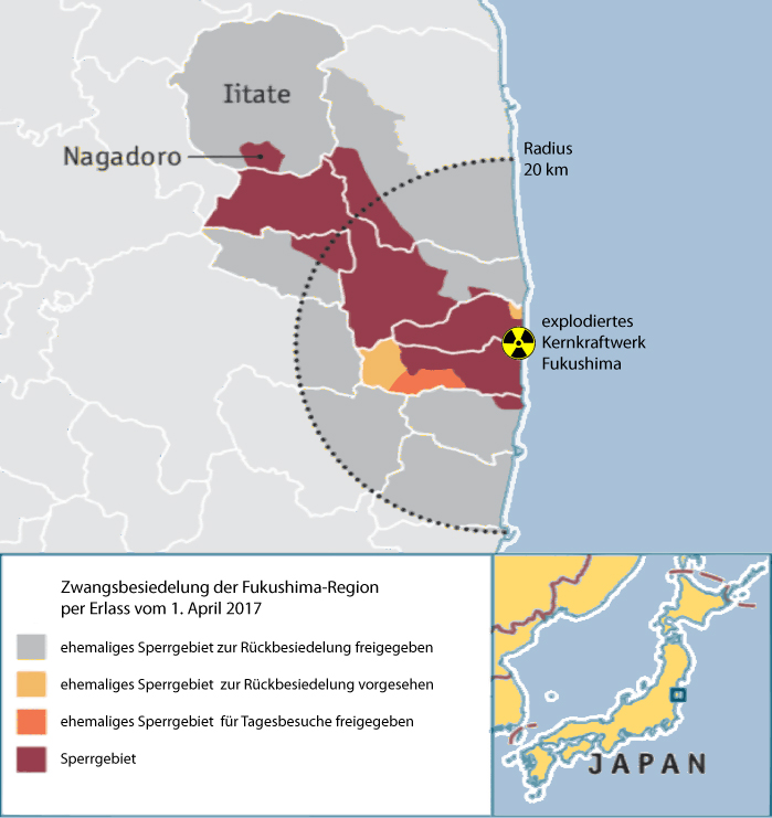 Zwangsbesiedelung der Fukushima-Region