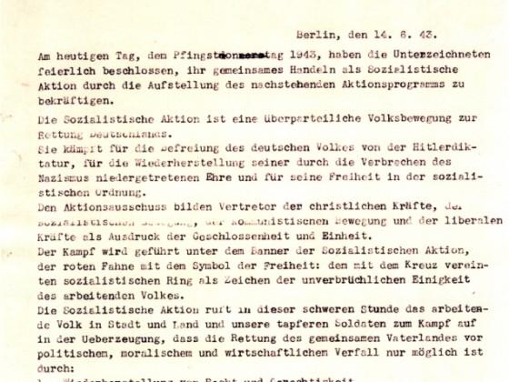 Antihitlerprogramm der Sozialistischen Aktion 1943