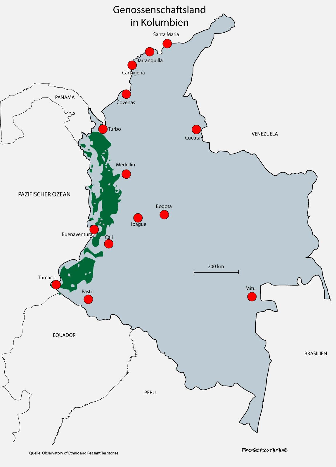 Genossenschaftsland in Kolumbien