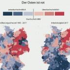Der Osten ist rot