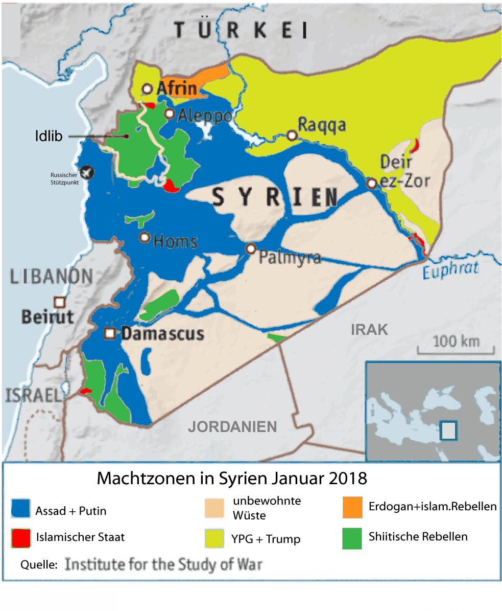 Syrienkrieg Januar 2018