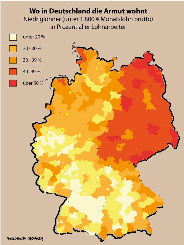 Wo in Deutschland die Armut wohnt